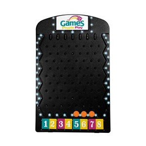 Black Prize Drop Game with Lights